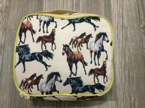 Wildkin Lunch Yellow Horses Insulated Lunch Bag