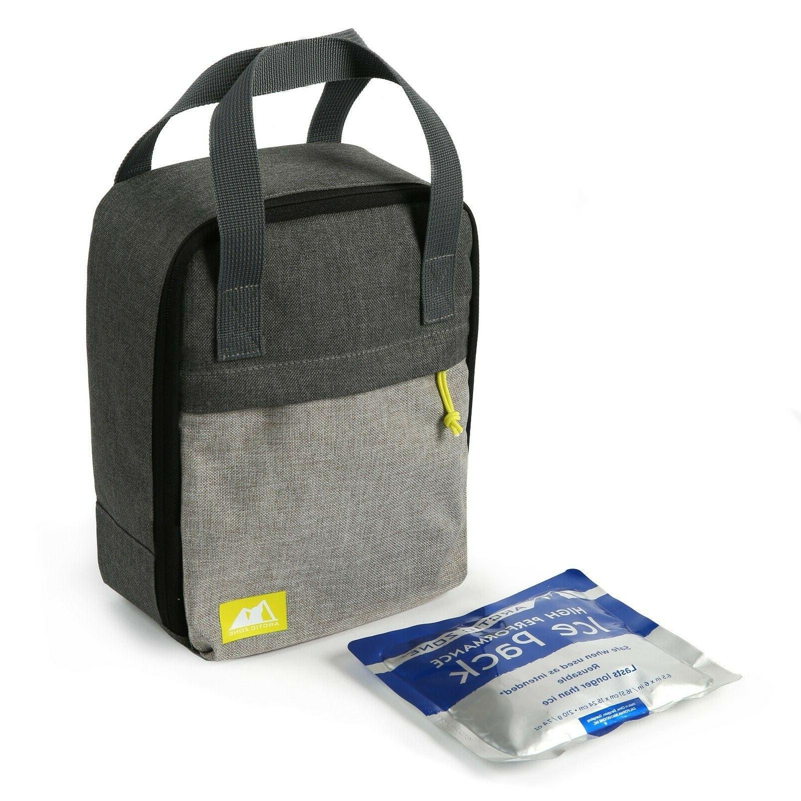 classic upright lunch box grey color brand