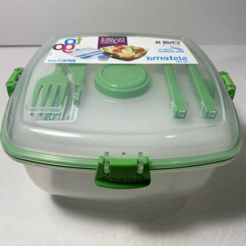 CLEAR CHILL IT TO GO SALAD LOCKING CONTAINER