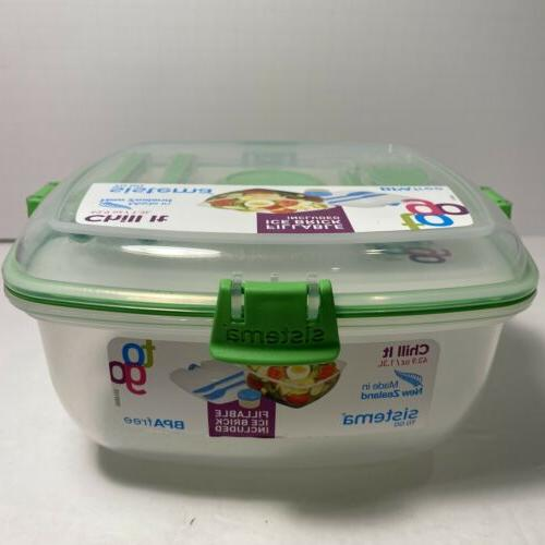 CLEAR GO CONTAINER SALAD LOCKING LID