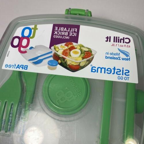CLEAR GO CONTAINER SALAD FOOD LOCKING STORAGE
