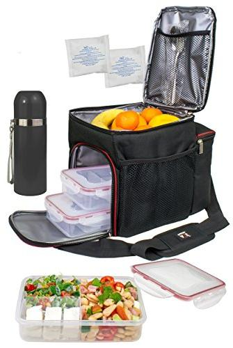 A2S Complete Prep Lunch Box - Pcs 3X Control Lunch Leakproof 3 Compartments Microwavable - - Thermos - Ice