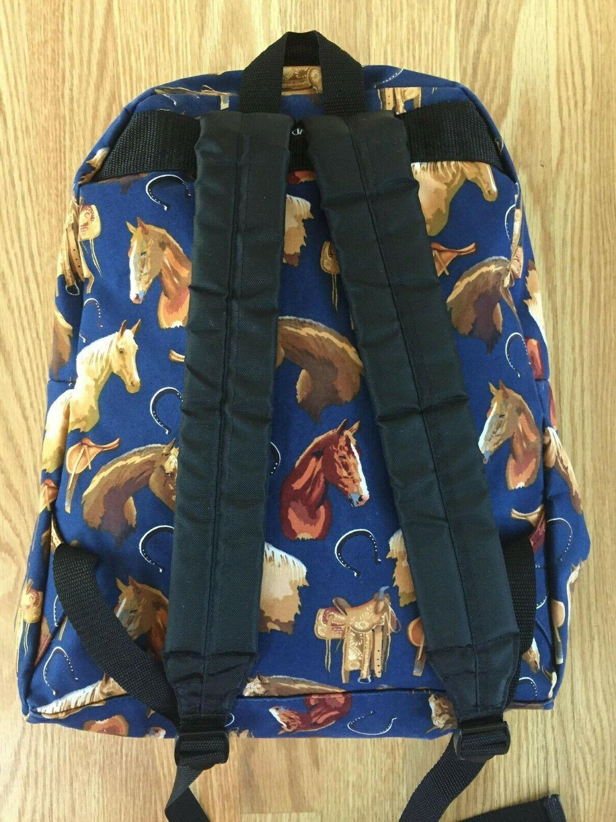 Broad Cotton Horse Themed Backpack Lunchbox Set BRAND