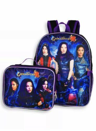 descendants 3 backpack with lunch box 2