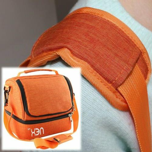 NEX Lunch Totes Large Lunch Box Bag Orange School