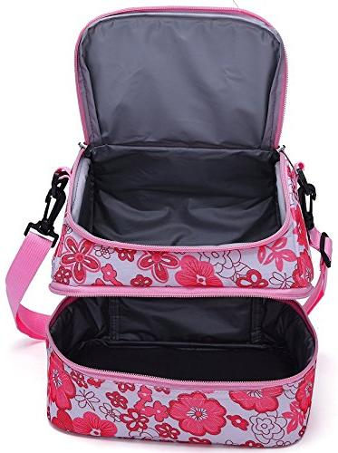MIER Double Insulated Lunch Cooler Thermal Lunch Tote