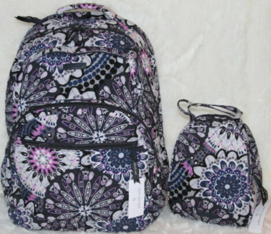 VERA BRADLEY ESSENTIAL LARGE BACKPACK LUNCH BOX Mimosa