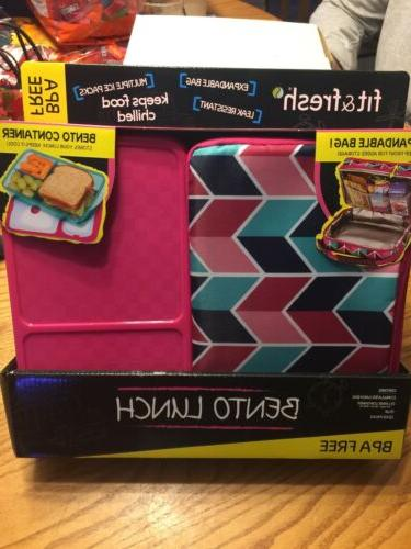 fit and fresh bento lunch box set