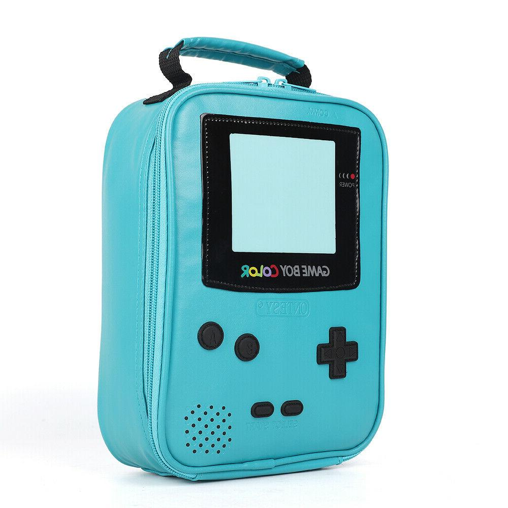game boy leather lunch box insulated cooler