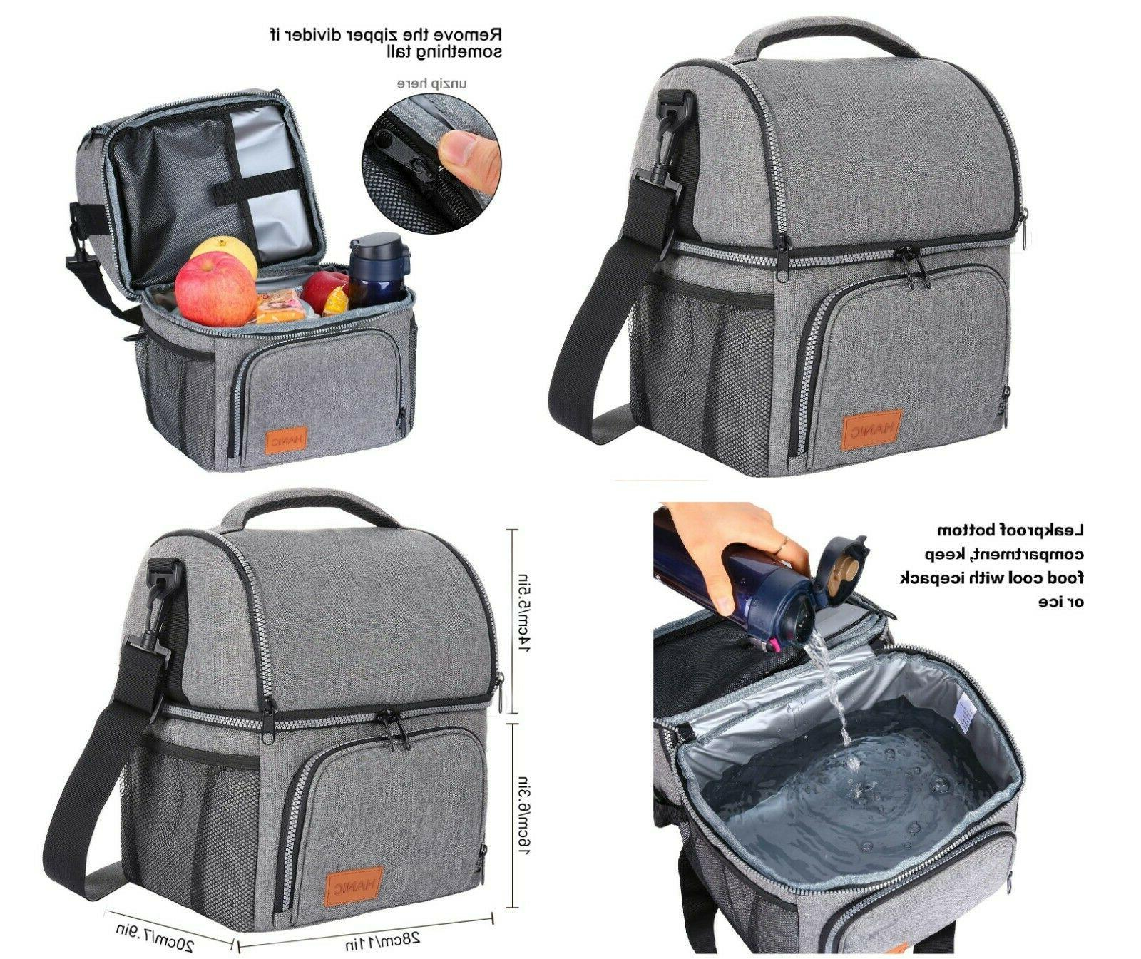 hanic insulated lunch bag for men large