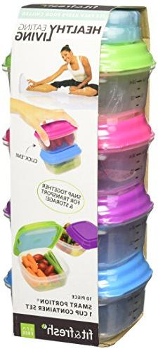 Fit & Fresh Healthy Living 1 Cup Stak Pak Set, Green