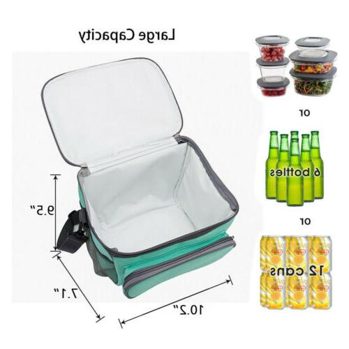 Insulated Food Lunch Tote Thermal Thermos Cooler Men