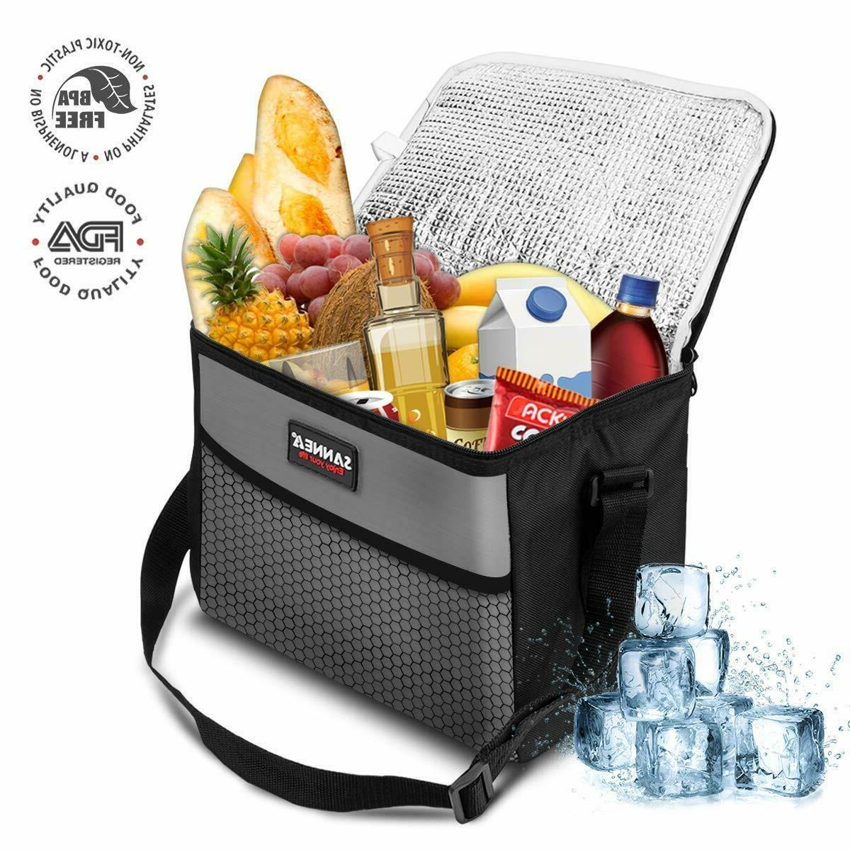 Insulated Lunch Bag Box Cooler for Men Heavy Duty Nylon USA