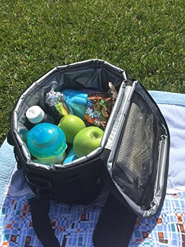 Large Lunch Cooler Easy Shoulder Strap, Roomy For Lunch Box, Containers, & More