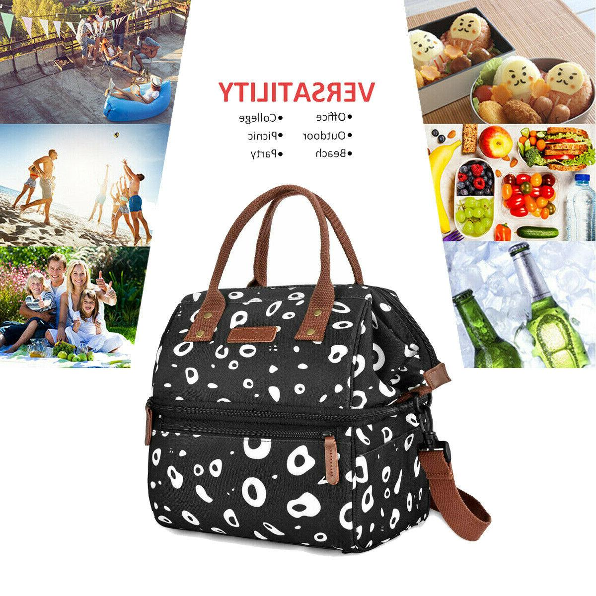 insulated lunch bag double deck lunch box