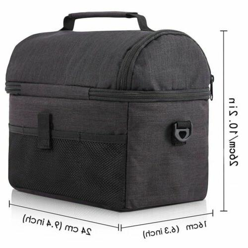Insulated Lunch Bag Women Men Kids Thermos Cooler Adults Lunch Box