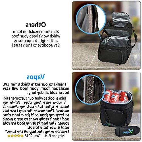 Large Lunch for Men and with Room Meals and Snacks. Food Hot/Cold Functional Lunch Box for Adults Perfect for