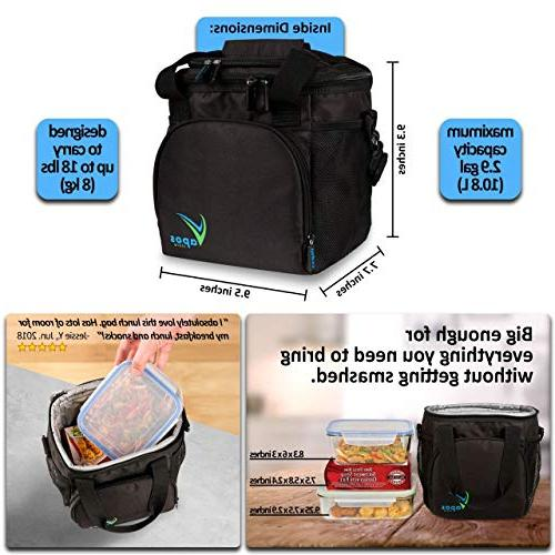 Large Insulated Lunch Bag for and Women with Room for More Meals Food Hot/Cold Functional Lunch Adults Perfect for Your Work Lunches