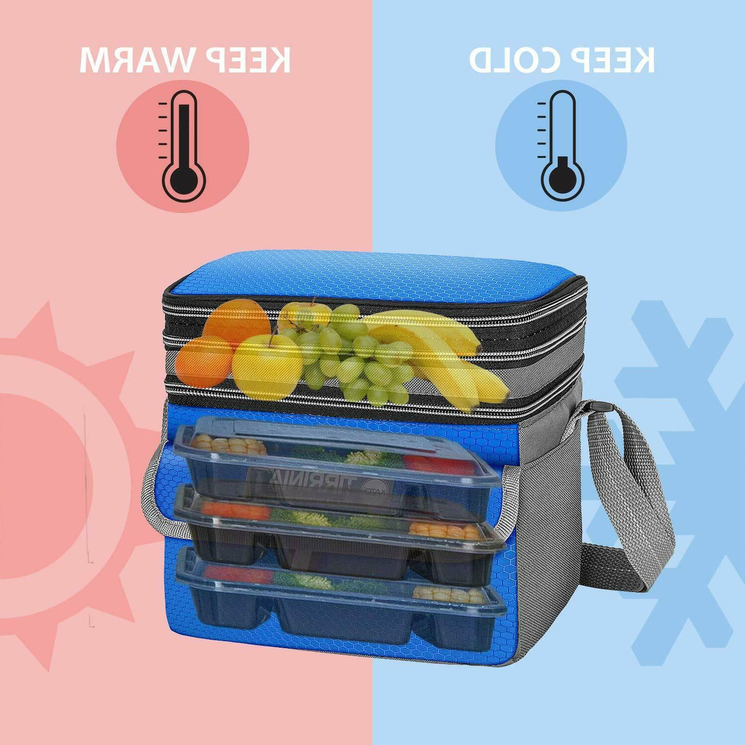 Insulated Lunch Bag Expandable Reusable Lunch for Adult & New
