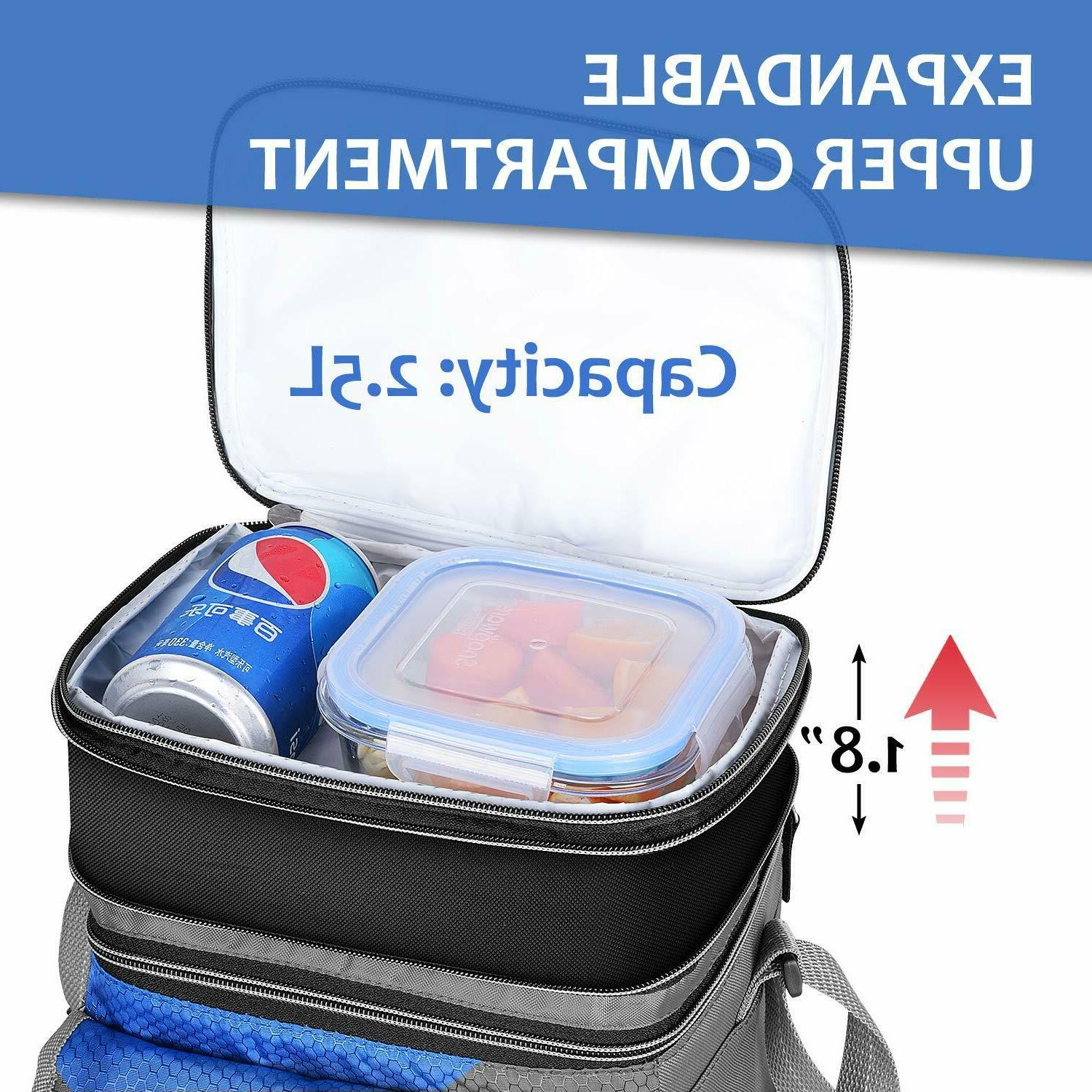 Insulated Expandable Reusable Lunch Box for Kids New
