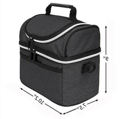 Insulated Bag, Leakproof Thermal Tote Dual Compartment