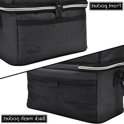 Insulated Thermal Bento Cooler Dual Compartment