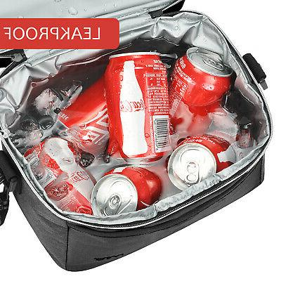 Insulated Lunch Bag, Leakproof Thermal Tote Dual