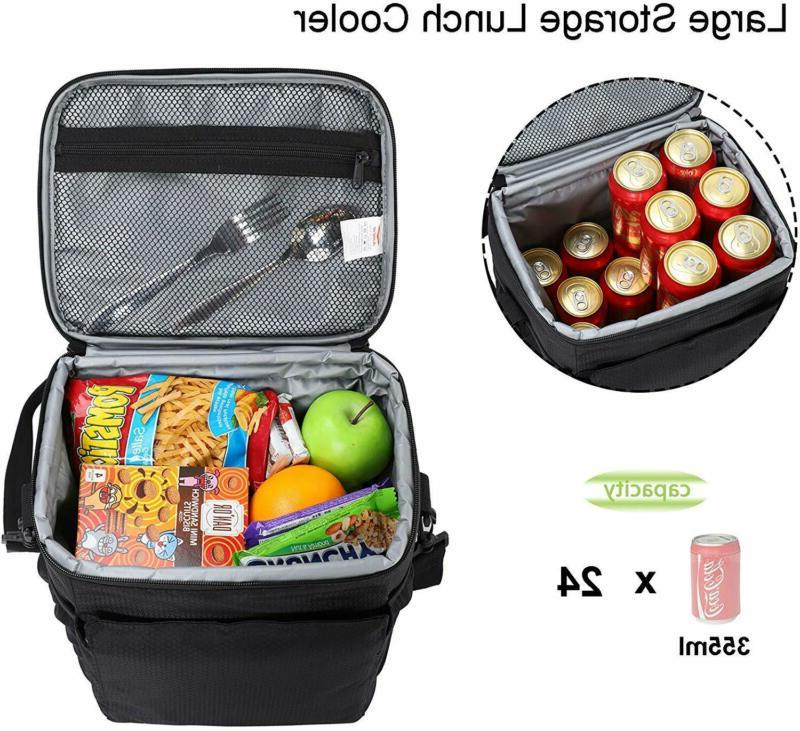 Mier Insulated Lunch Men Cooler Lunch With Shoulder