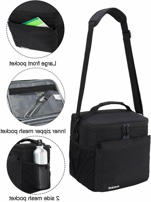 Mier Insulated Men Soft Cooler Lunch Box Tote With Shoulder
