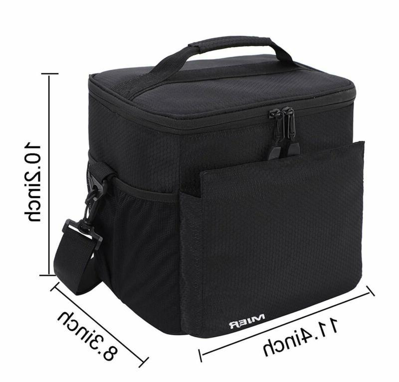 MIER Men Women Soft Cooler Tote with