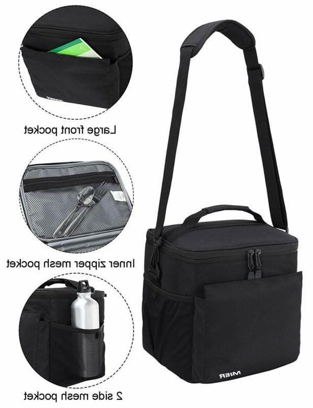 MIER Insulated Lunch Men Cooler Box Tote with