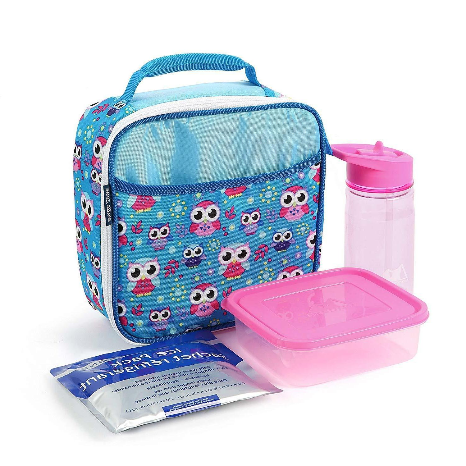 Arctic Zone Insulated Lunch Bag with Bonus Bottle, Ice Pack