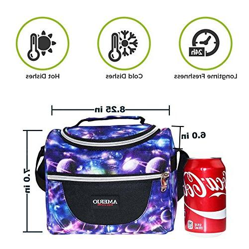 Insulated Bag for Kids Cooler Box For Work School Girls Tote Bags Smooth Small Lunch Boxes Children Student Adjustable
