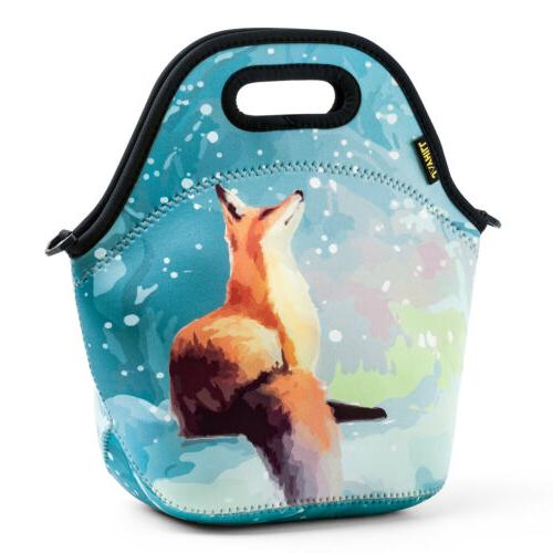 Fox Neoprene Lunch Bags for Women Lunch Box Insulated for Sc