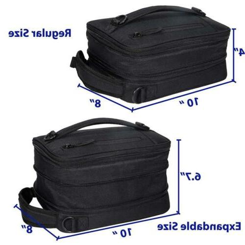 MIER Insulated Lunch Bag Pack Men, Black
