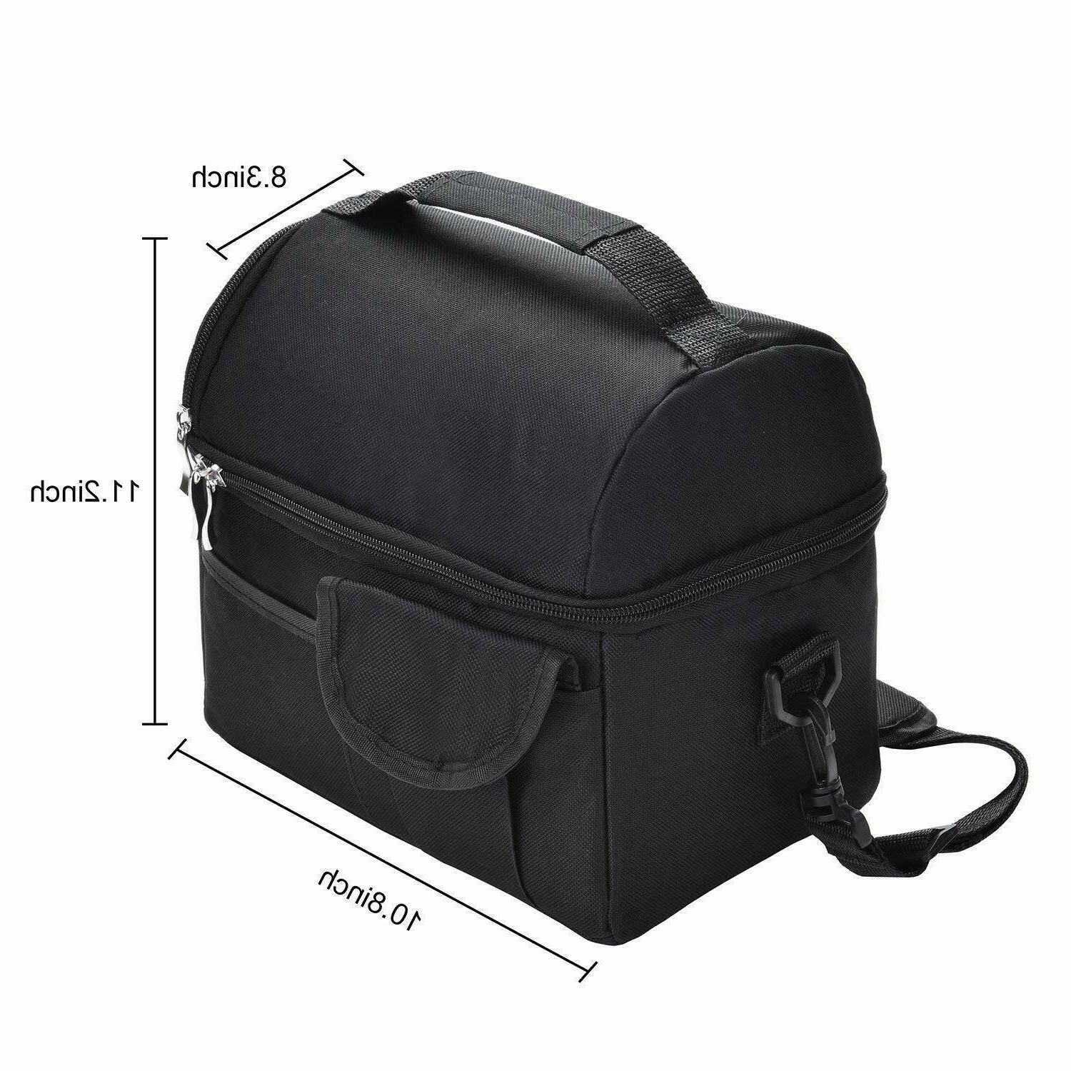 Insulated Lunch Tote Bag Travel Women Adult Hot Thermal