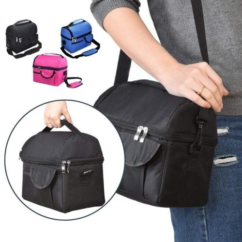 8L Insulated Lunch Box Tote Women Hot Food Cooler Thermal