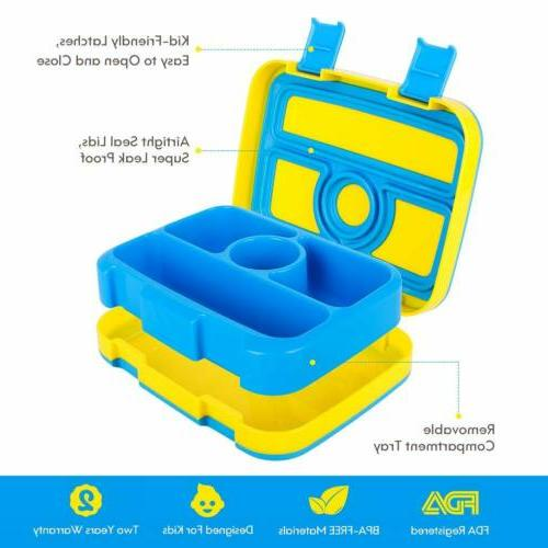 Kids Nomeca Durable LeakProof 4Compartment Food Container