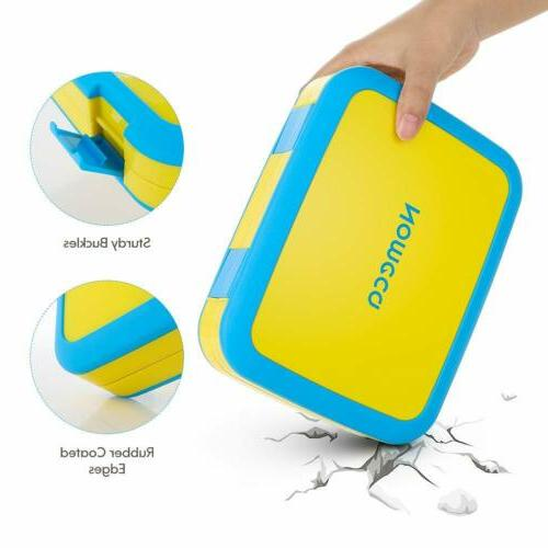 Kids Box Nomeca LeakProof 4Compartment Food Container &Spork