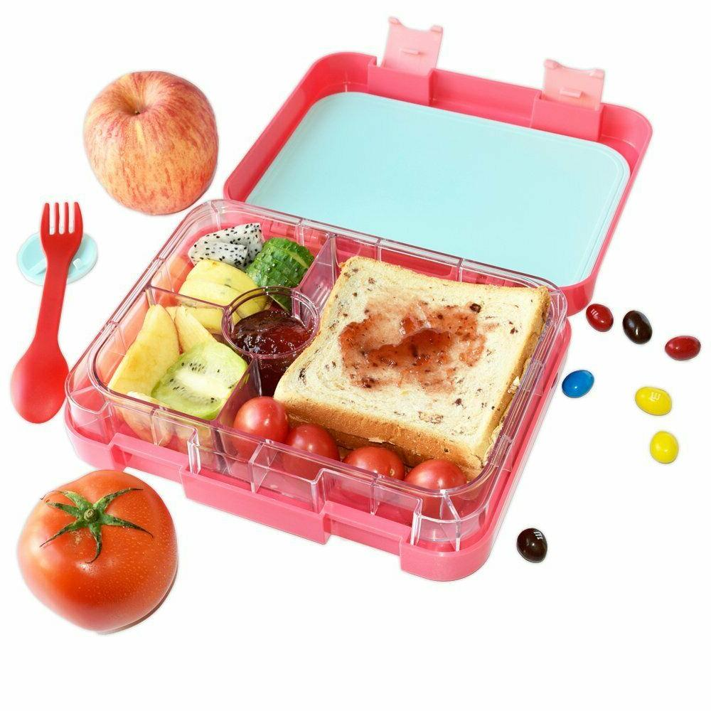 kids bento lunch box nomeca leakproof 4compartment
