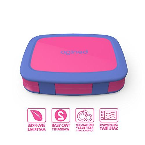 Bentgo Kids Leak-Proof, Bento-Style Lunch – Portion Sizes 3 to BPA-Free and Materials
