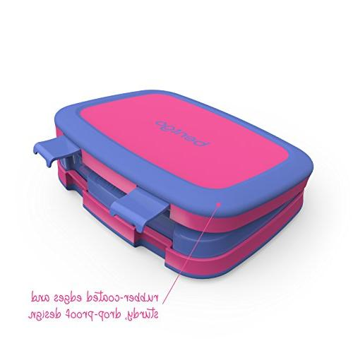 Bentgo Kids Brights Leak-Proof, 5-Compartment Bento-Style Lunch Portion 3 BPA-Free and Food-Safe
