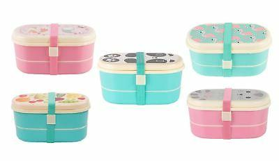 kids childrens plastic bento lunch boxes snacks
