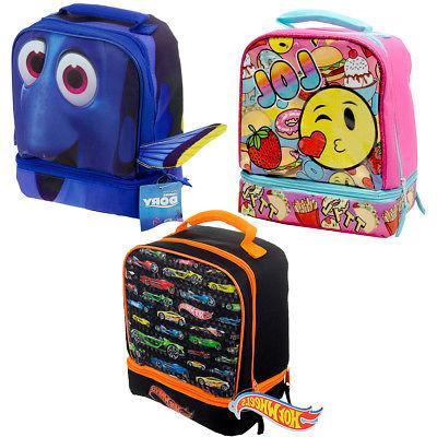 kids insulated 2 section padded lunch bags