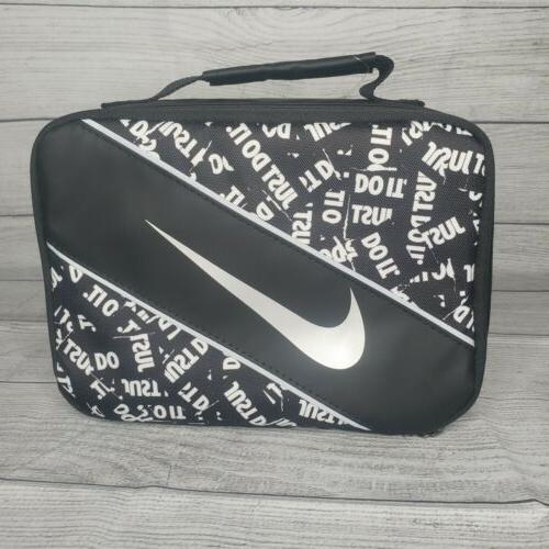 kids lunch box black just do it