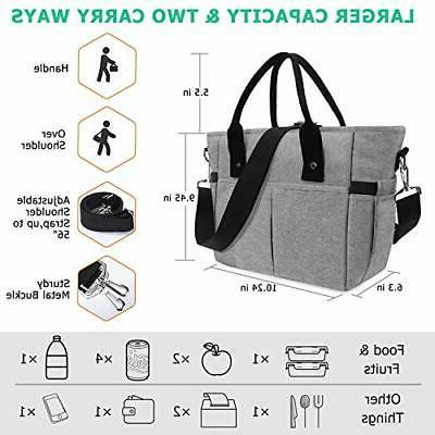 Insulated lunch bags women Large Tote Adult Lunch Box