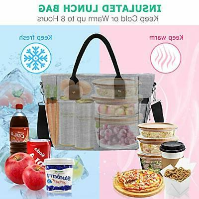 Insulated lunch women Large Tote Lunch for Women