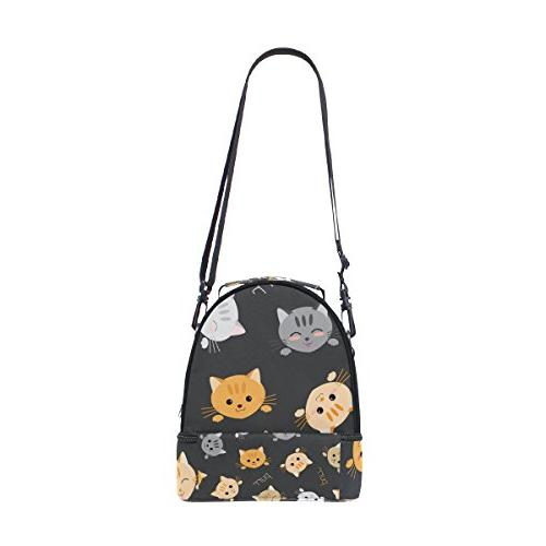 ALIREA Cats Lunch Bag Insulated Cooler Bag for Teens Boys