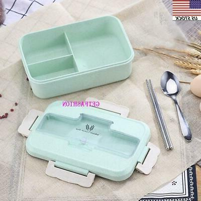 Leakproof Bento 3 Grids Meal Container