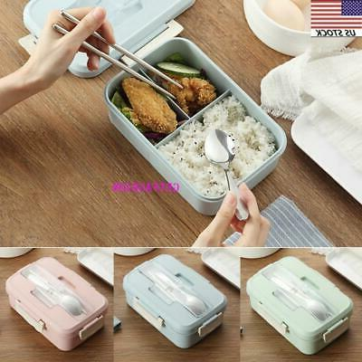 leakproof bento lunch box 3 grids
